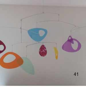 translucent acrylic multi-color hanging mobile art