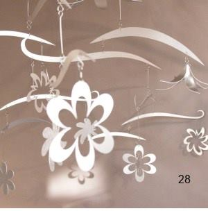 custom hanging mobile flowers vines sculpture art